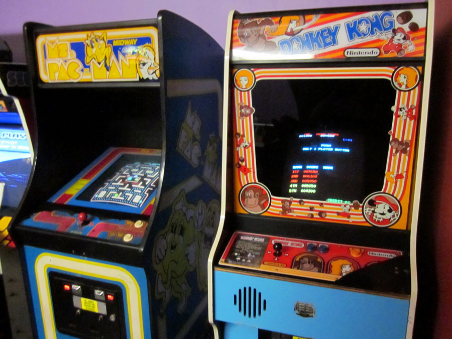 Ms. Pac-Man and Donkey Kong at The Holiday Hill Arcade | Cape Cod