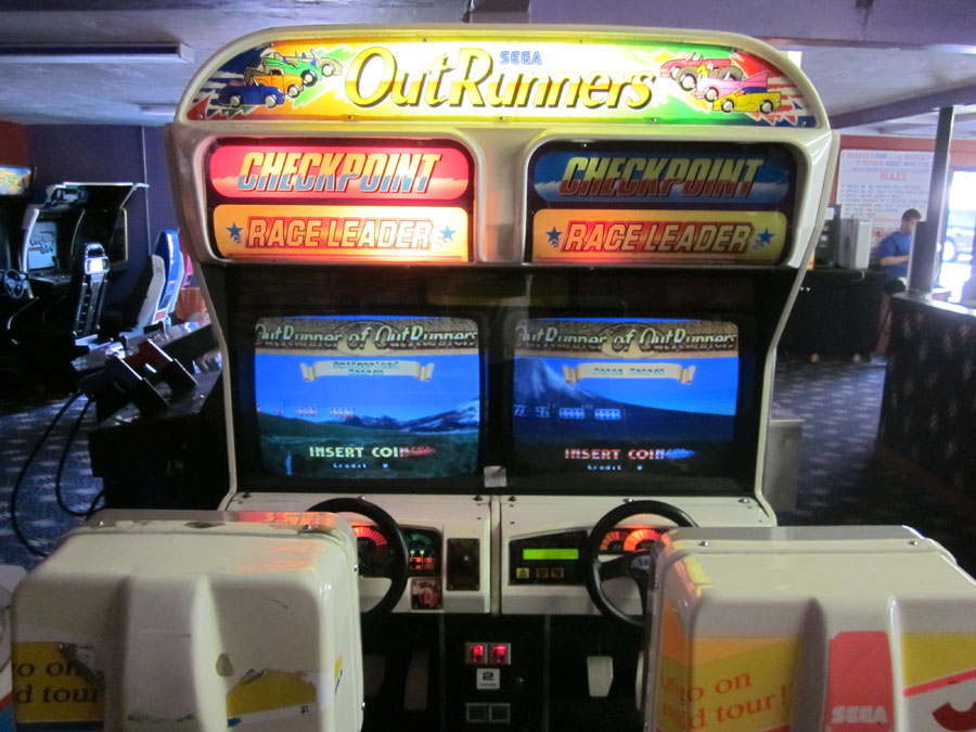 Sega Out Runners at The Holiday Hill Arcade | Cape Cod
