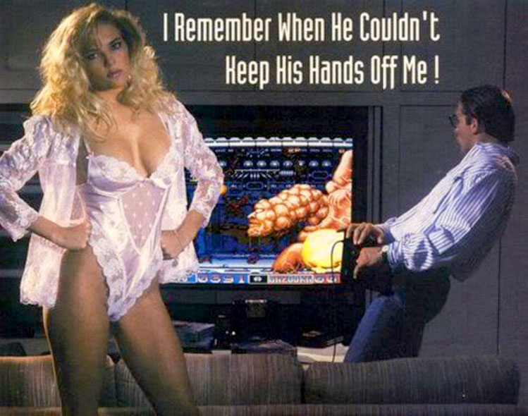 Cyber-Lip ad: I remember when he couldn't Keep his hands off me!