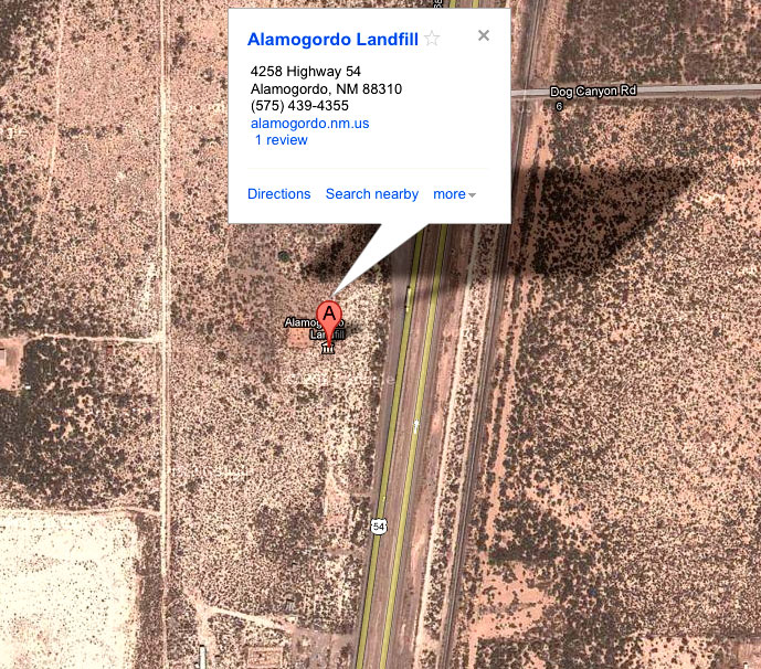 Alamogordo New Mexico landfill map