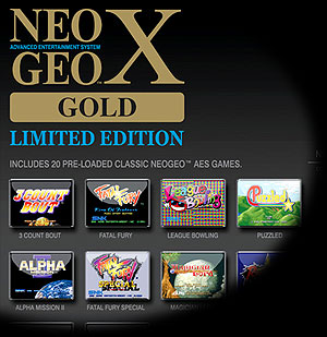 NeoGeo X Gold Limited Edition ad