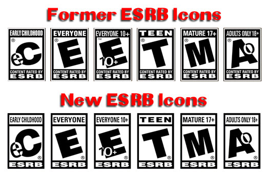 Updated ESRB icons