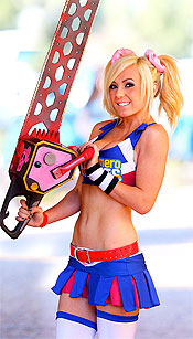 Jessica Nigri cosplaying as Juliette Starling from Lollipop Chainsaw