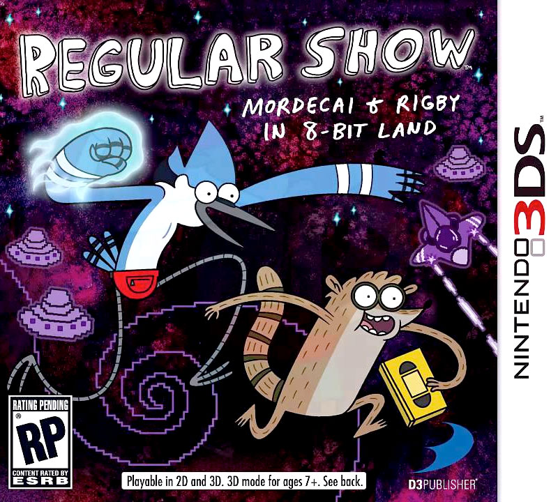 Mordecai & Rigby in 8-Bit Land on Nintendo 3DS
