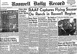 Article in the Roswell Daily Record about the FO crash