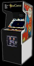 Star Castle arcade game cabinet