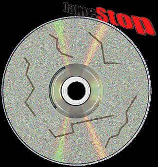 scratched video game disc
