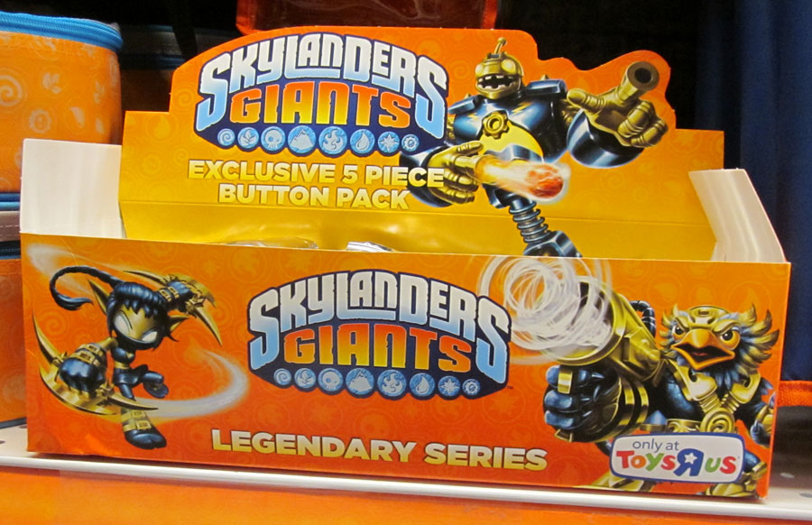 Skylanders Toys R Us : Get skylanders giants buttons in an exclusive pack only