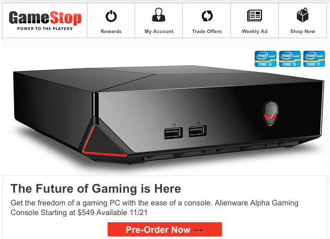 Alienware Alpha game console