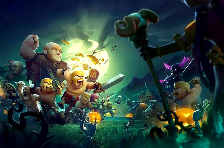 Clash of Clans Halloween start up screen