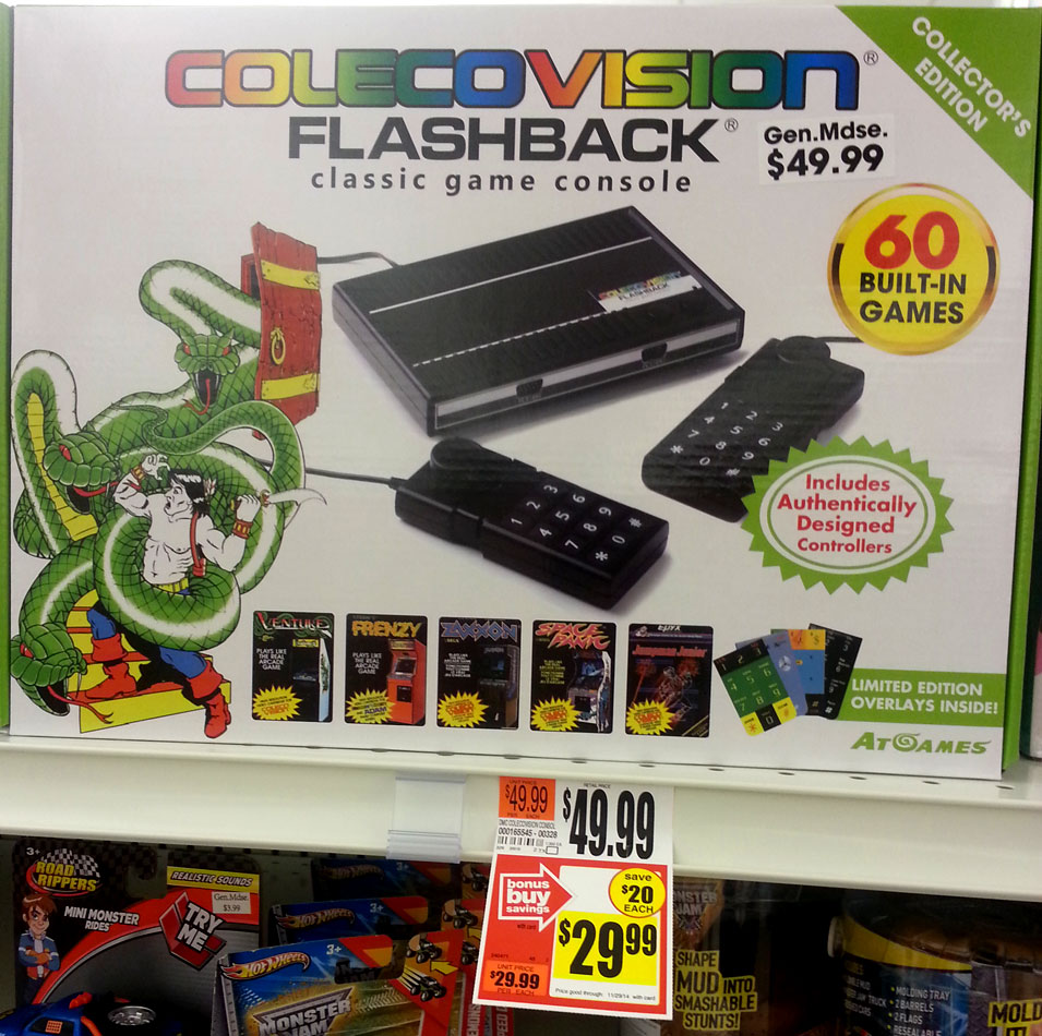 Colecovision Flashback at my grocery store