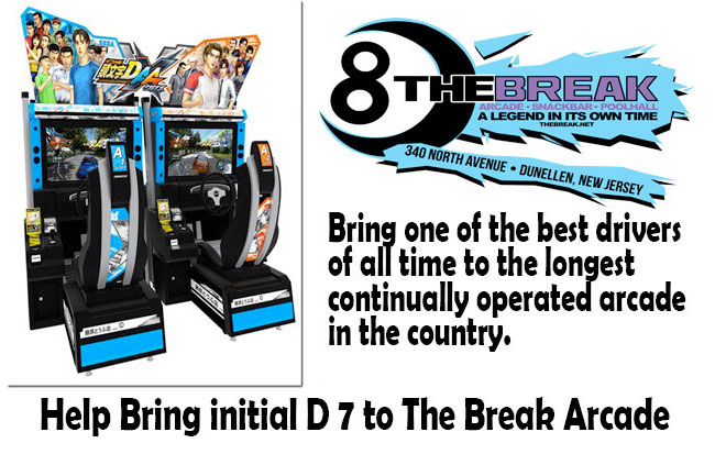 Bring the Initial D7 to The Break Arcade in New Jersey