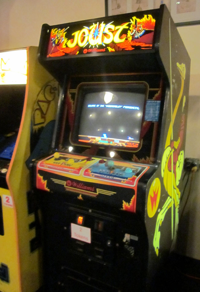 My local arcade announced their Joust game acquisition via Facebook