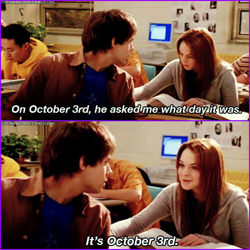 Mean Girl: It's October 3rd