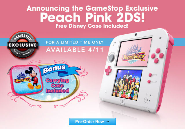 Are You Man Enough For Gamestop S Exclusive Peach Pink 2ds I Was