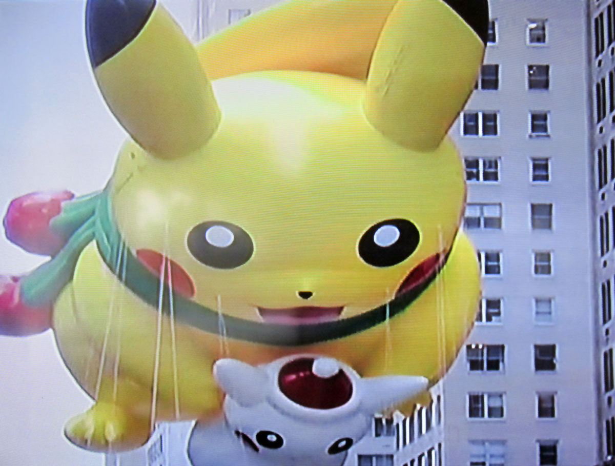 Picachu in the Macy's Thanksgiving Day Parade
