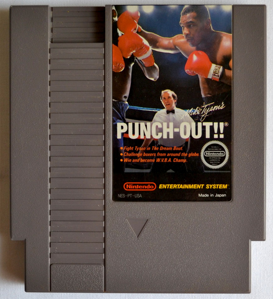 Mike Tyson's Punch-Out game cartridge for NES