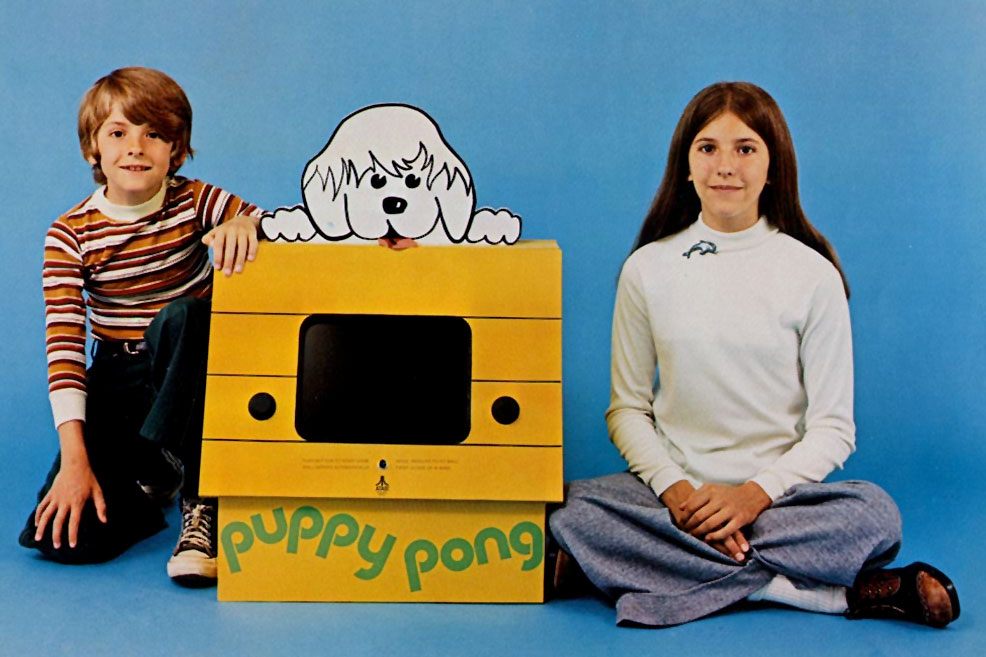 Puppy Pong from the official arcade flyer
