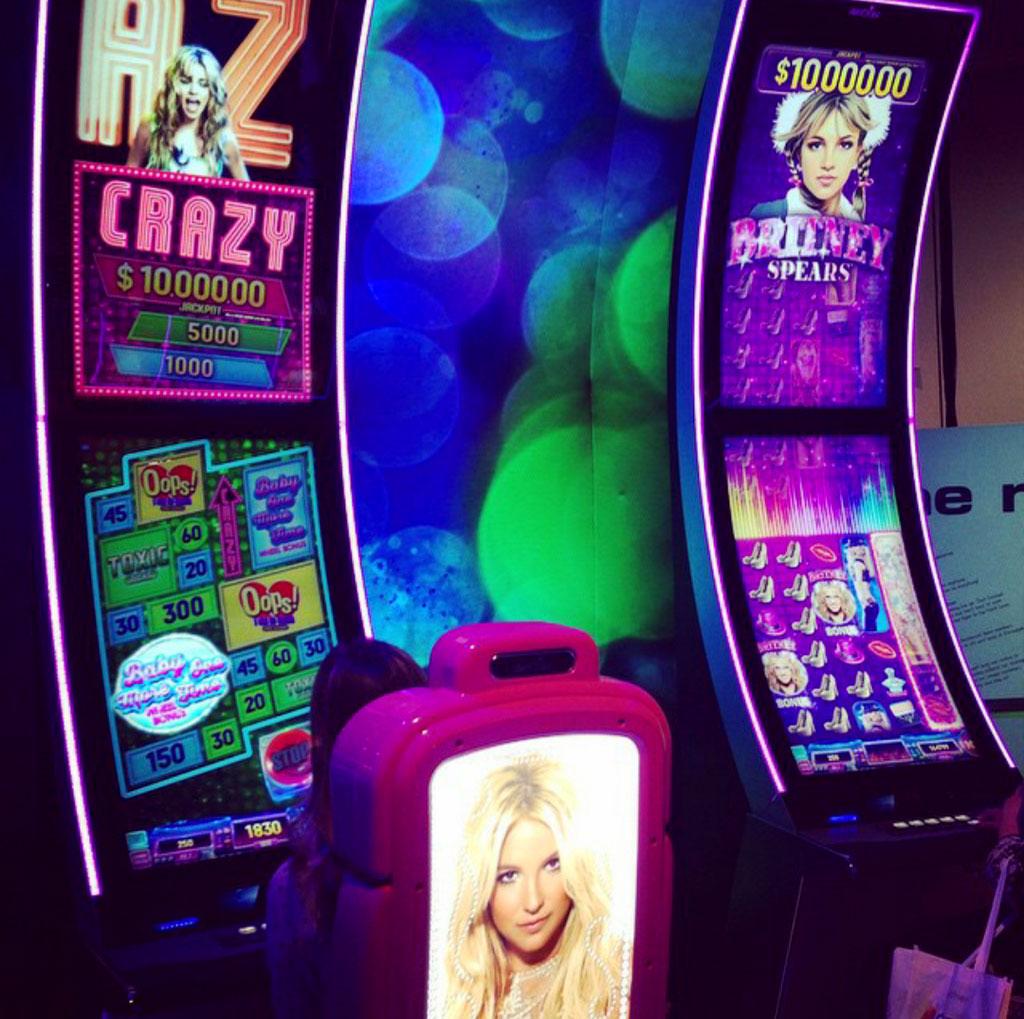 Britney spears slot machine