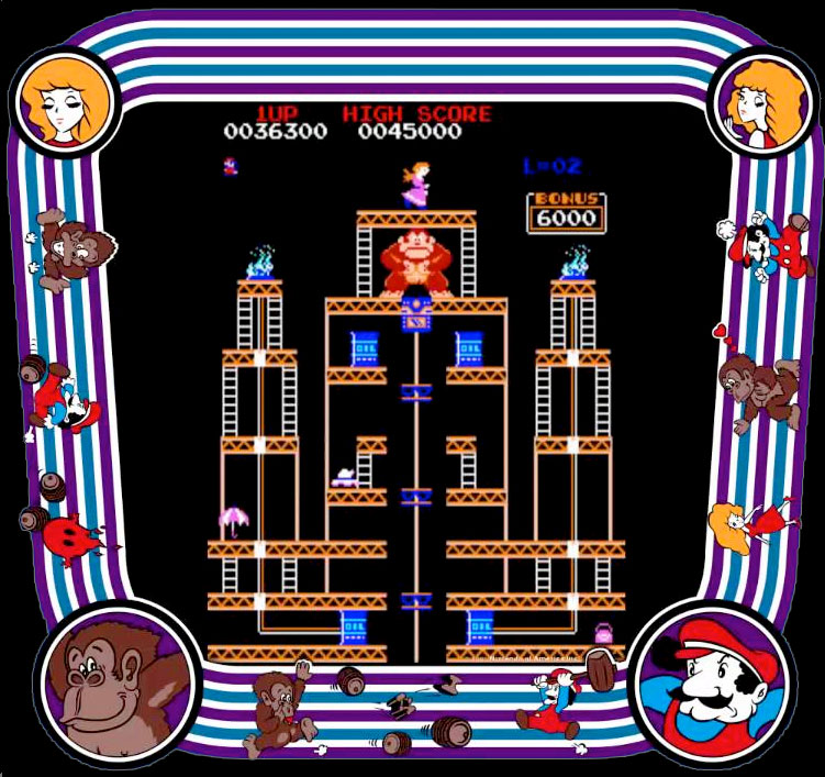 Donkey Kong II Jumpman Returns levels