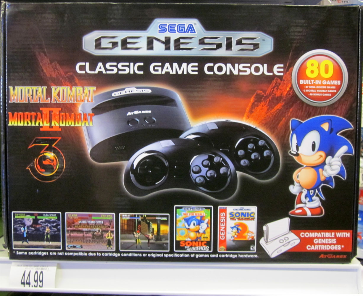 A new sega portable appeared with the standard genesis - Atari flashback classic game console game list ...
