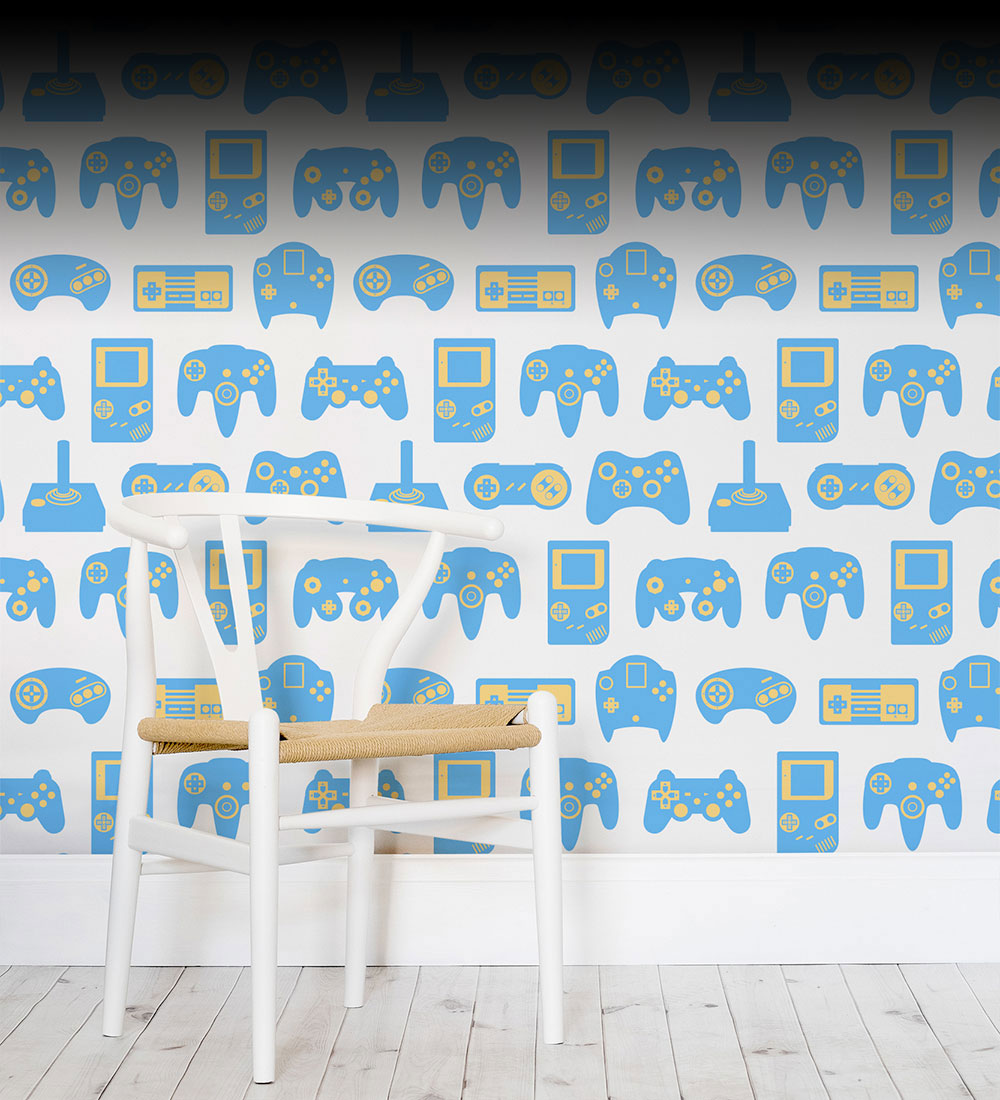 Awesome decor for your game room wallpaper from murals for 8 bit room decor