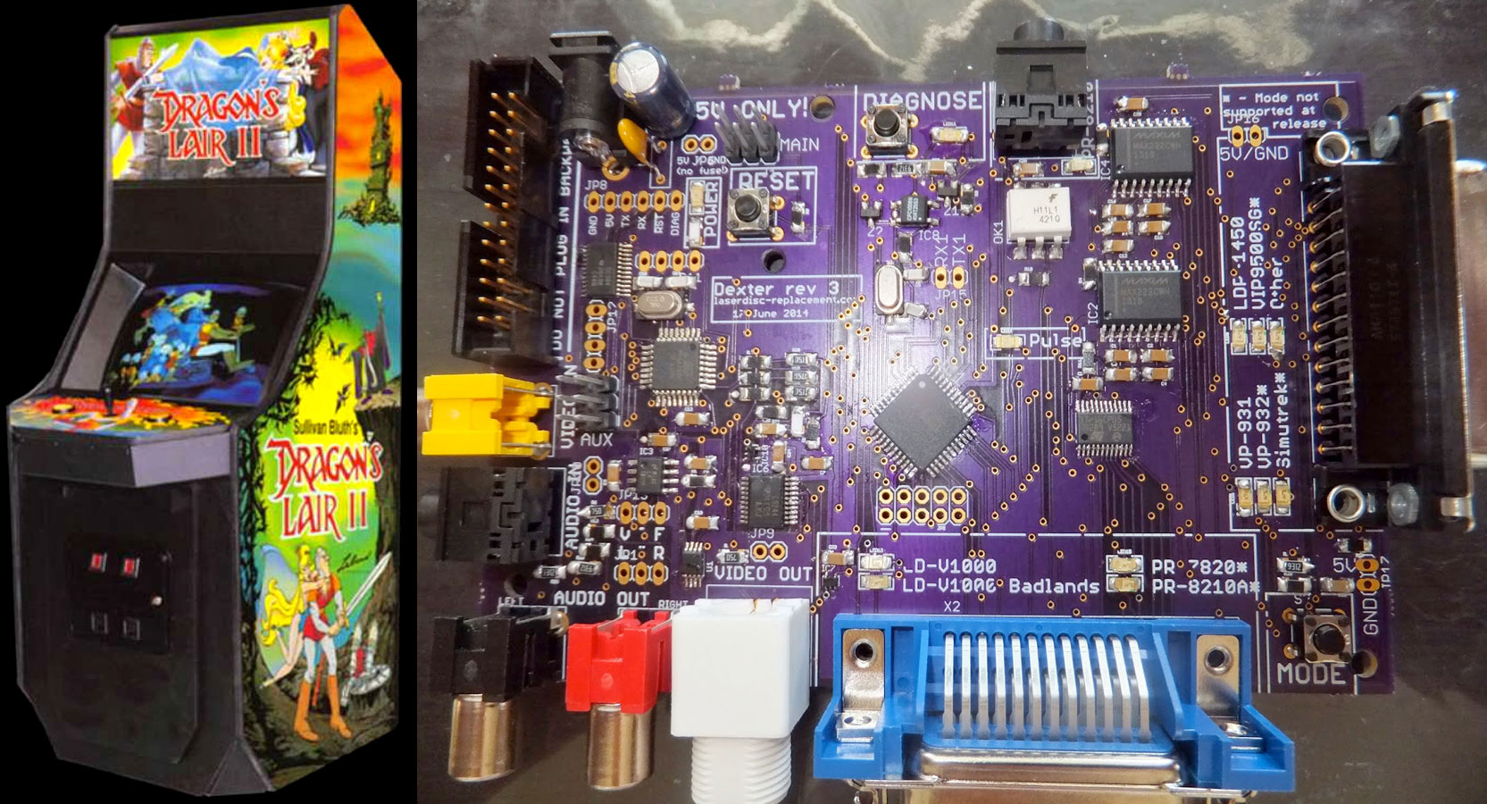 dexter brings solid state reliability to arcade games employing