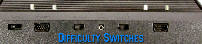 Atari 2600 ifficulty switches