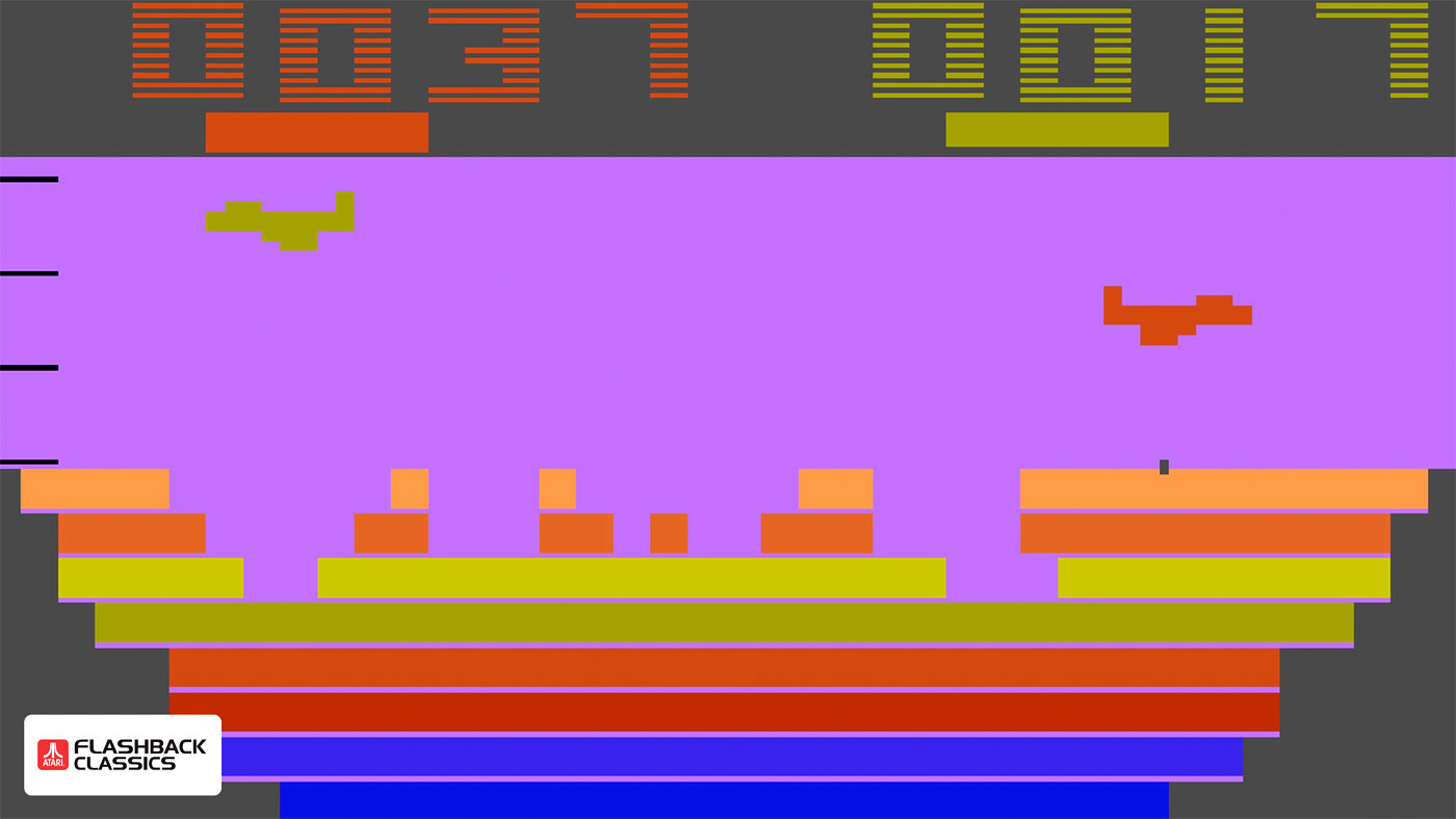 Canyon Bomber on the Atari Flashback Classic Collection