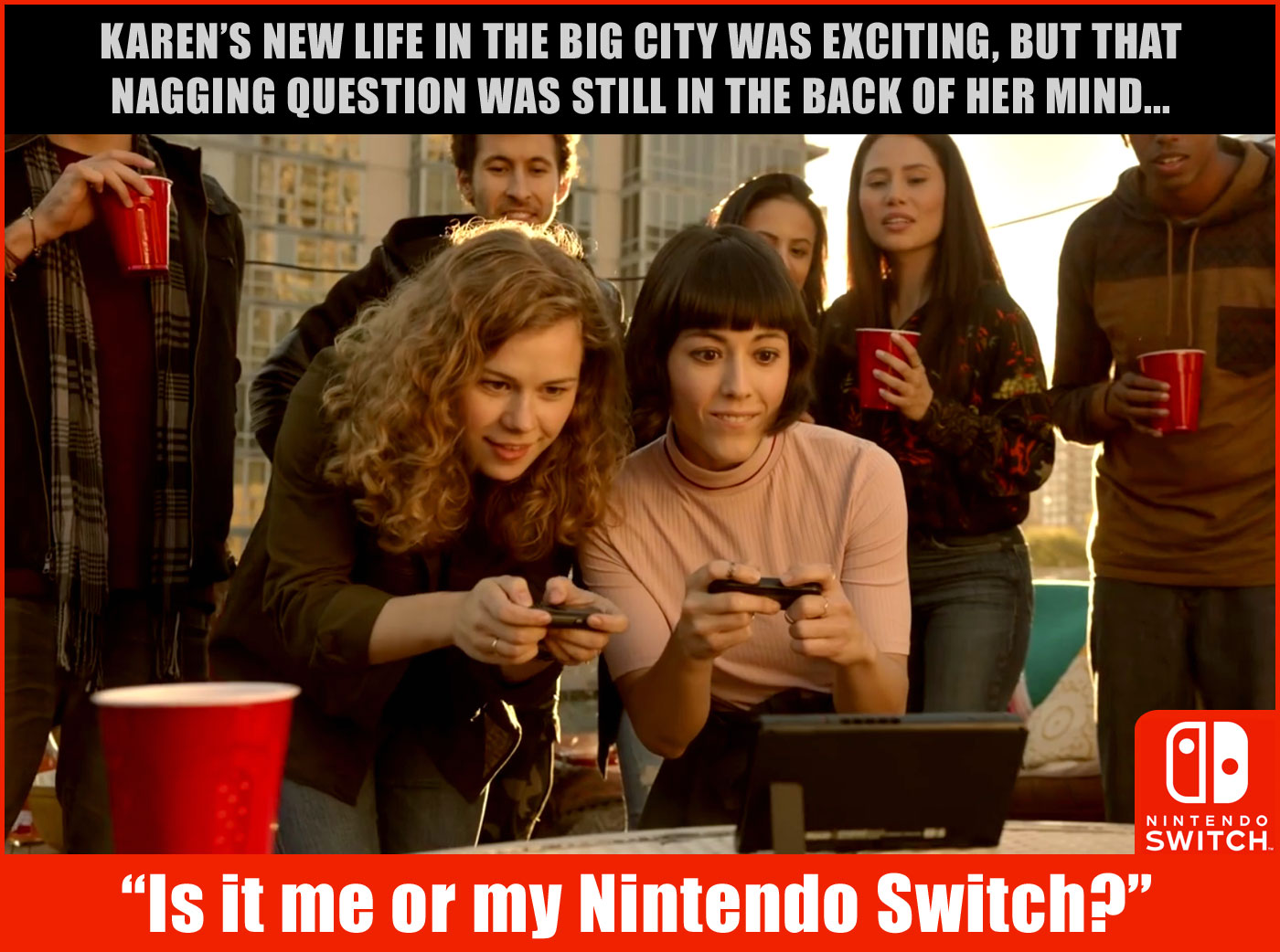 Karen from Nintendo's Switch reveal trailer