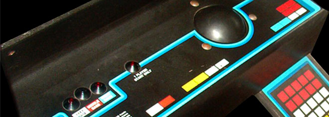 Missile Command arcade controls