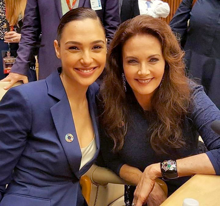 Gal Gadot and Lynda Carter