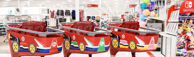 Target stores participating in a Nintendo Kart makeover