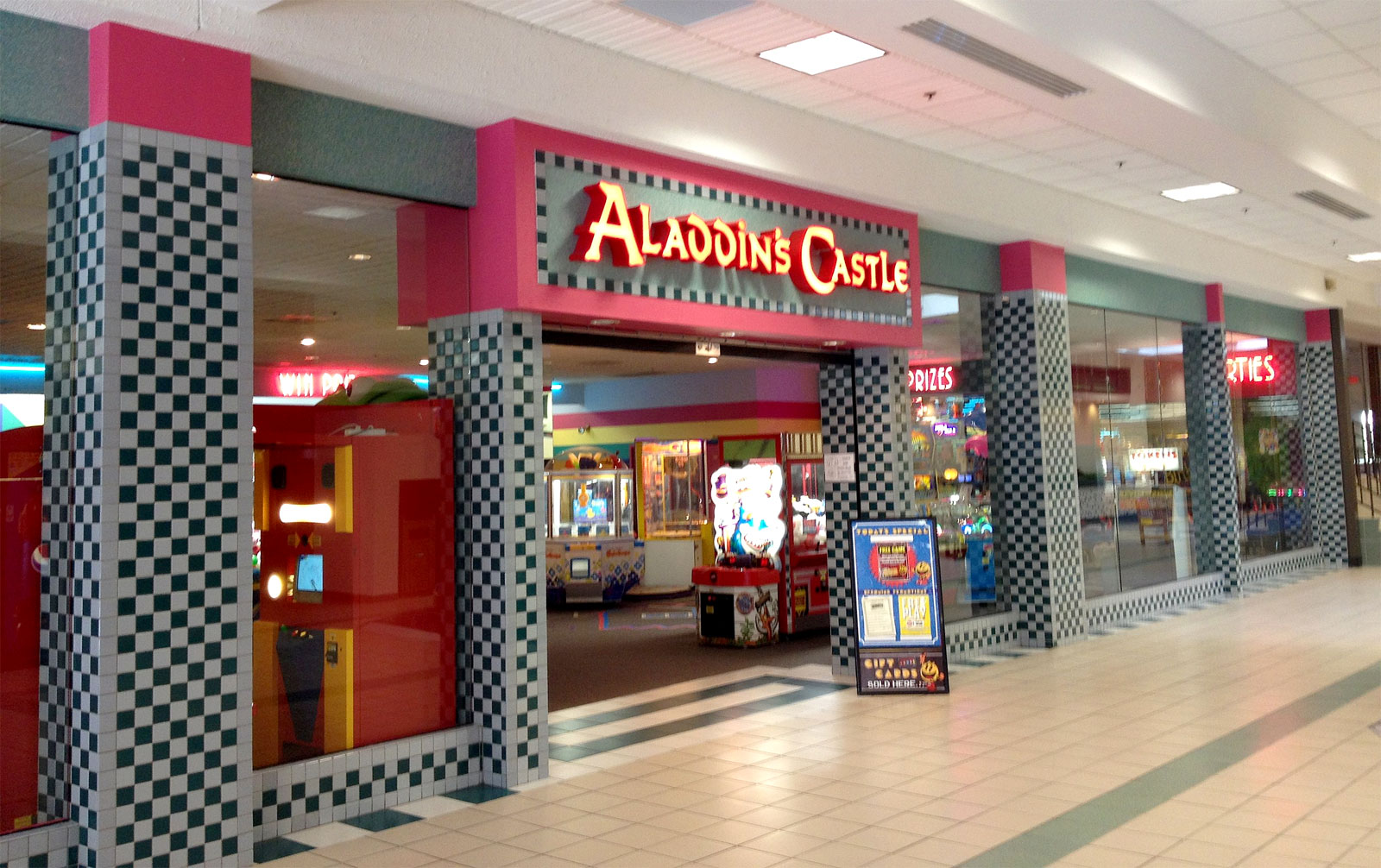 Aladdins Castle Arcade at the mall