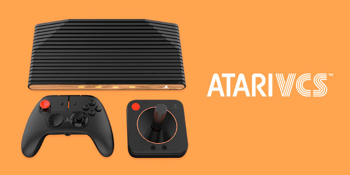 Atari VCS game console and controllers