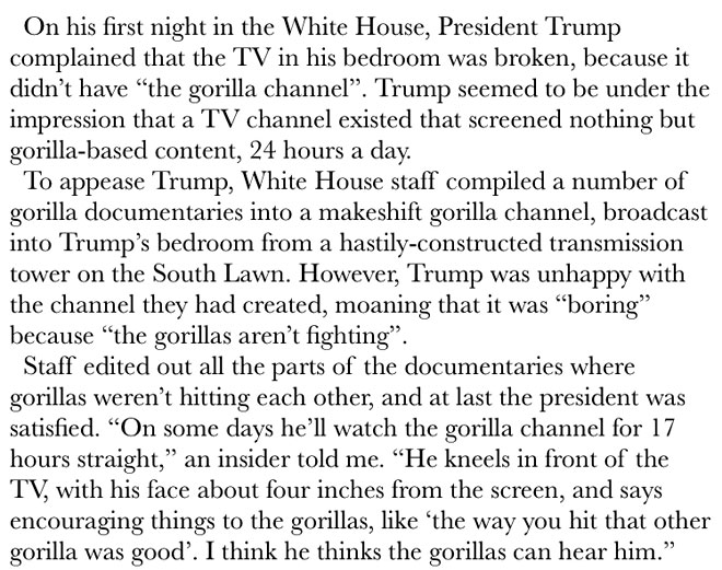 Pixelatedboat's fake excerpt from the anti-Trump book, Fire And Fury