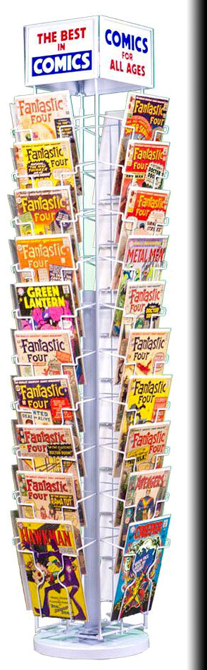 Classic Comic Book Spinner Rack