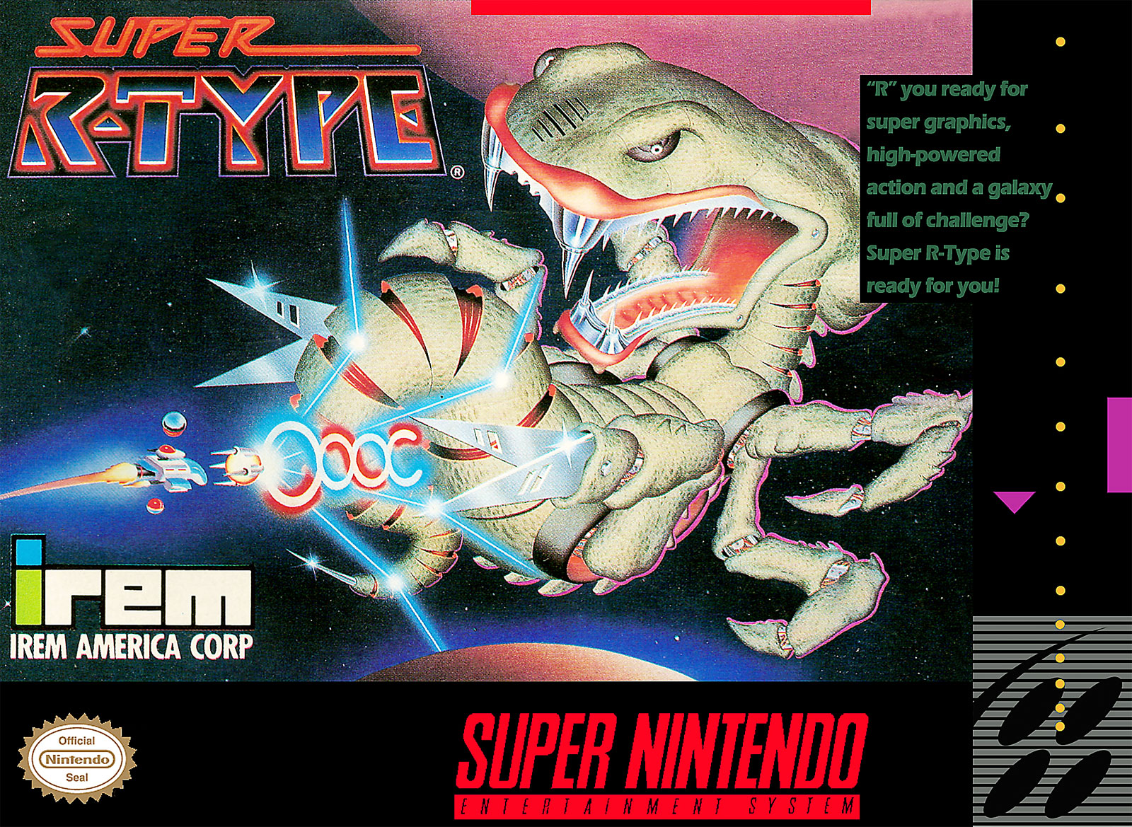 Super R-Type by Irem for SNES