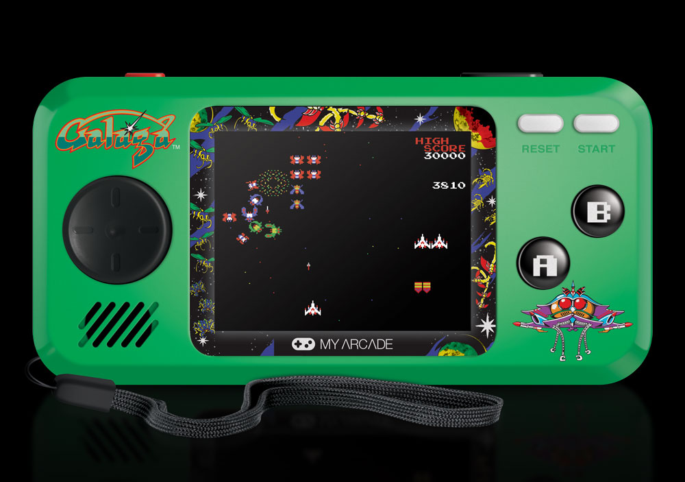Myarcade S Line Of Pocket Player Handheld Game Consoles Is Expanding Next Month To Include Galaga 8 Bit Central