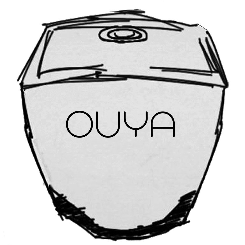 Ouya game console drawing