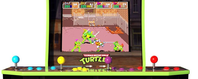 Can four players fit around #Arcade1Up's newly announced #TMNT