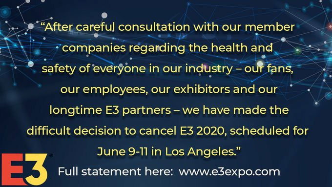 Coronavirus worries have cancelled E3