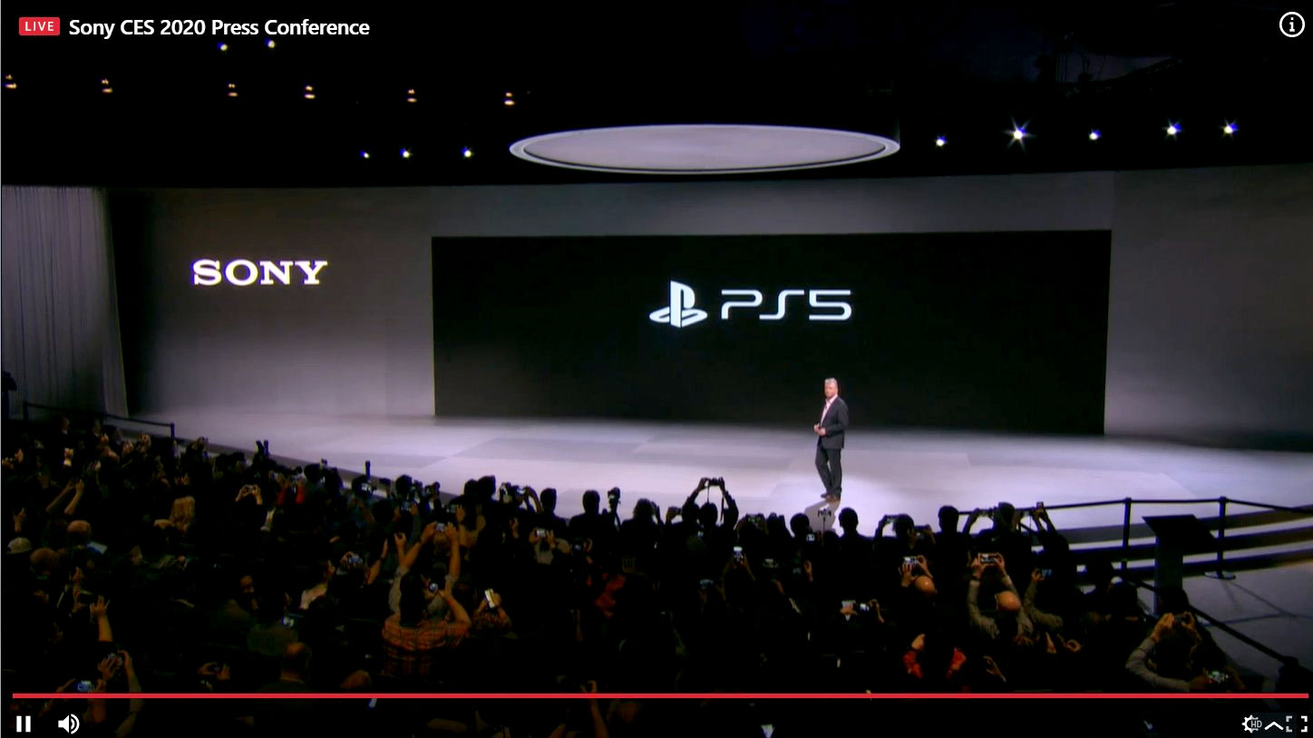 Sony PS5 logo reveal at CES