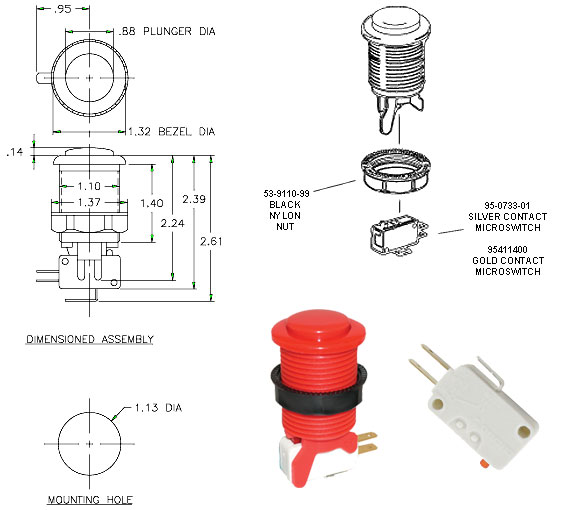buttonDiagram build arcade quality joysticks for atari 2600, 7800, 800 Joysticks Connections Diagram at nearapp.co