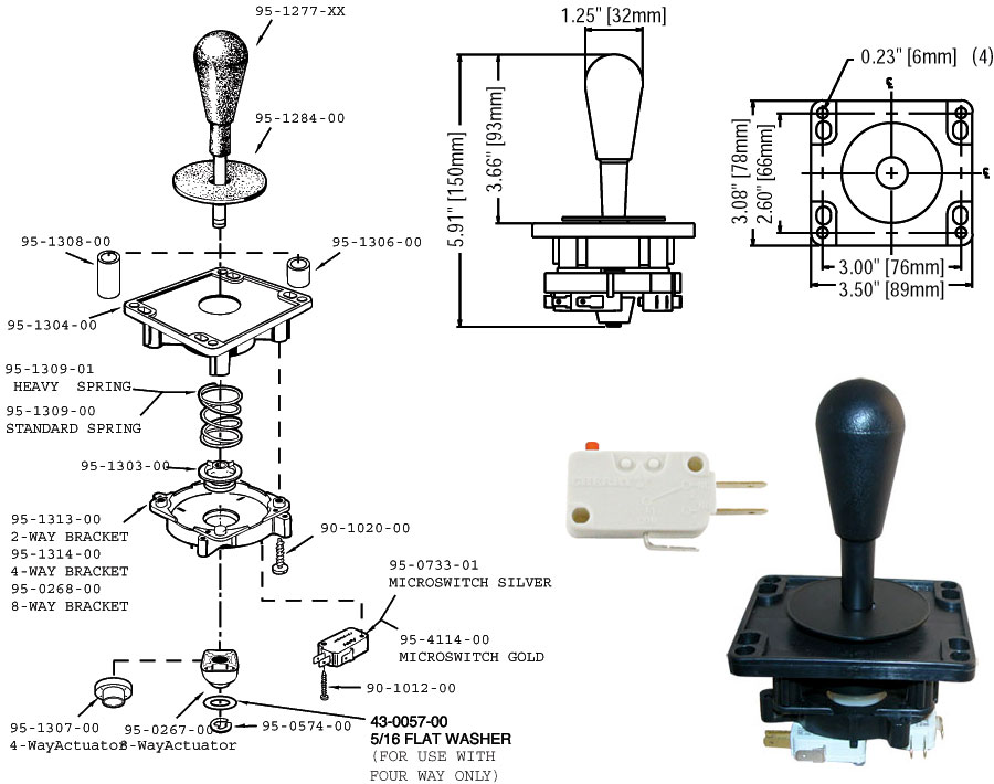 stickDiagram build arcade quality joysticks for atari 2600, 7800, 800 joystick wiring diagram at gsmx.co