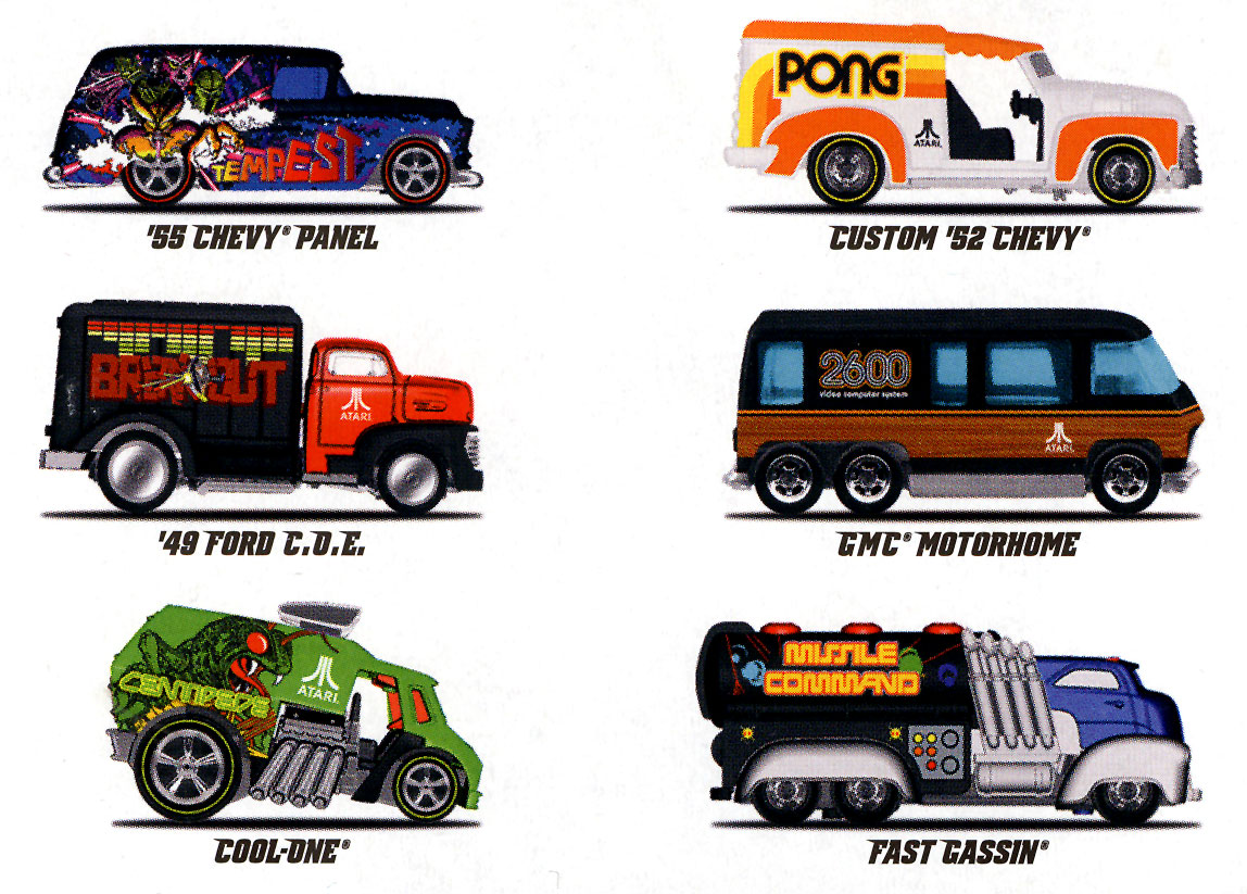 Hot Wheels created 6 #Atari branded cars each representing a classic ...