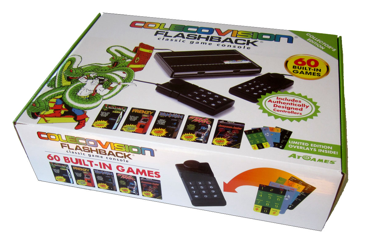 AtGames' #Colecovision #Flashback has 60 games, 2 wired joysticks
