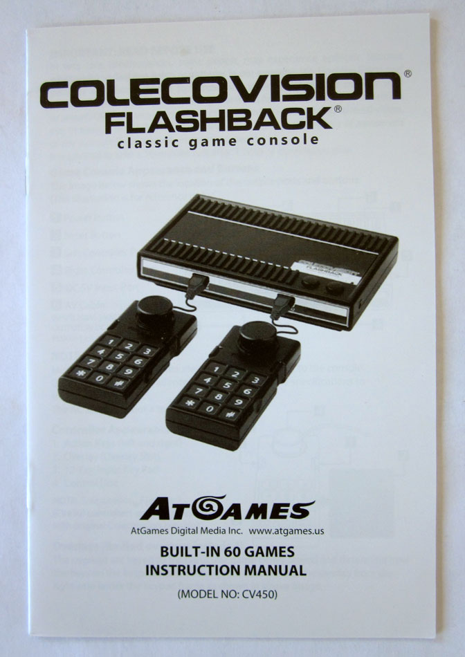 AtGames' #Colecovision #Flashback has 60 games, 2 wired