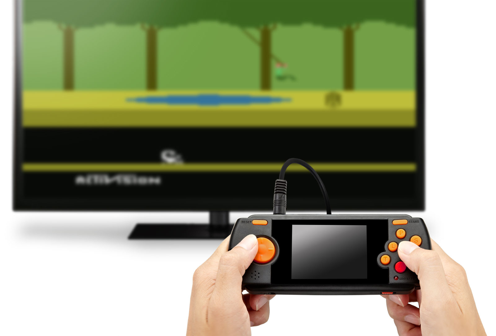 how to connect atari flashback portable to tv