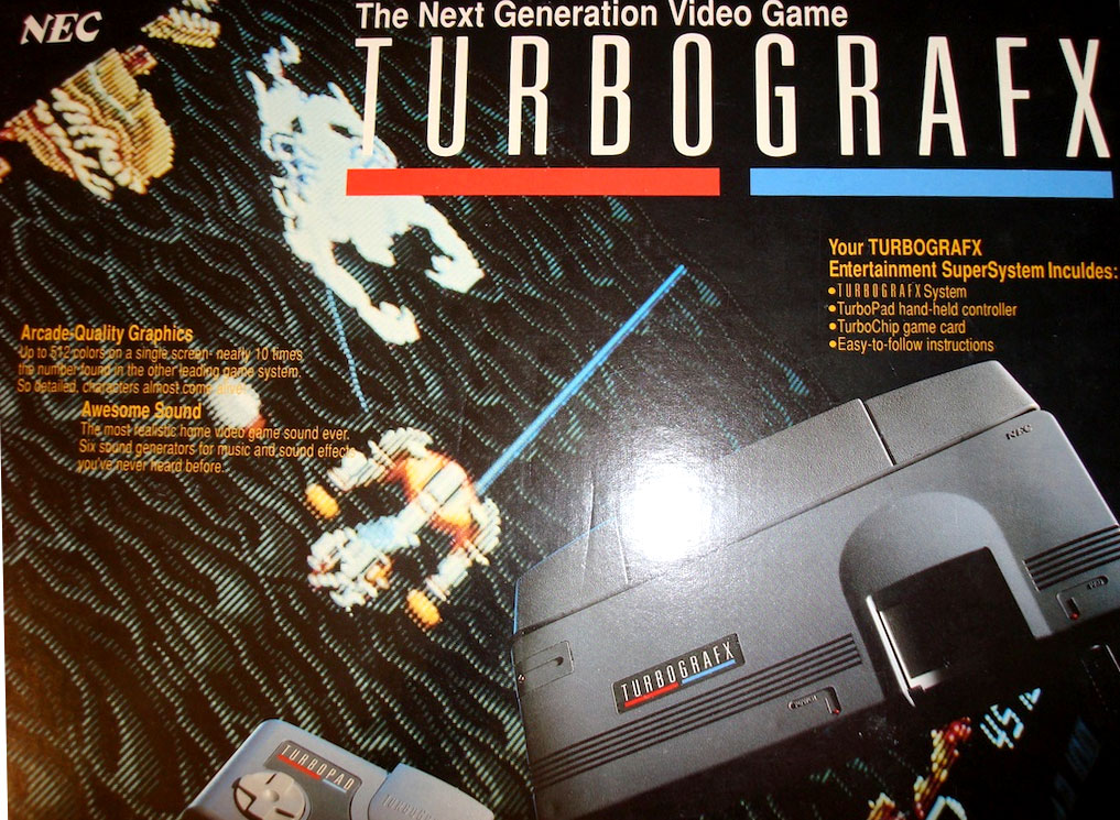 Nec S Turbografx 16 Was First Marketed As A Competitor To